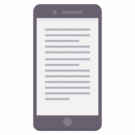 device, letter, mobile, phone, screen, text icon