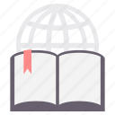 book, education, knowledge, learning, online, study, web icon