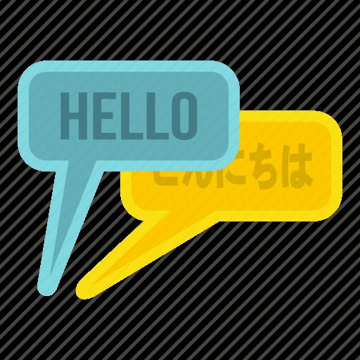 bubble, english, japanese, language, speech, translate, translation icon