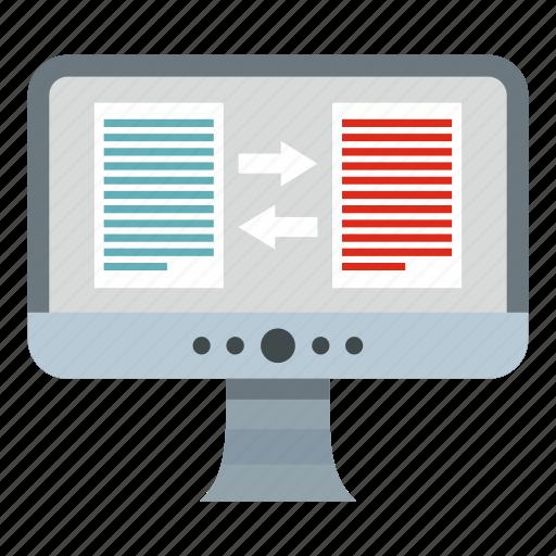 business, computer, language, online, text, translate, translation icon
