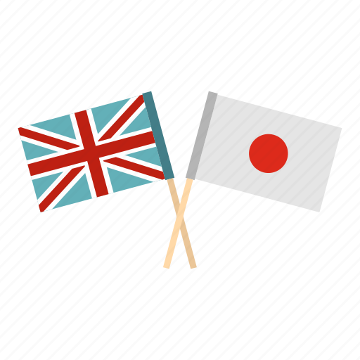 flag, friendship, japan, kingdom, national, people, united icon