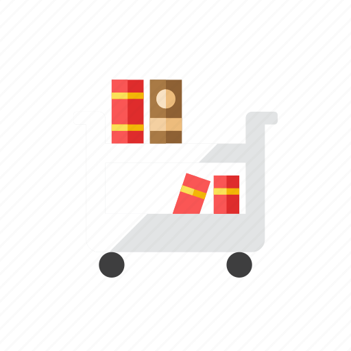 book, cart icon