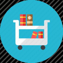 book, cart icon