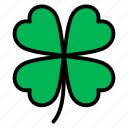 clover, leaf, nature, plant, tree icon