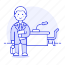 1, 2, case, counsel, court, courtroom, law, lawyer, legal, male, of, table, trial, witness icon
