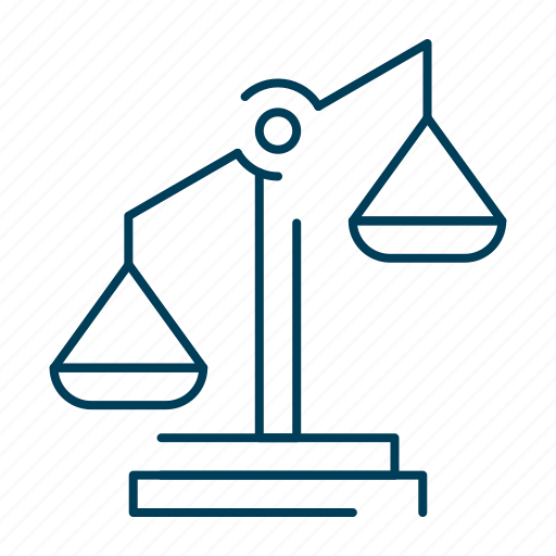 court, justice, law, legal, scales icon