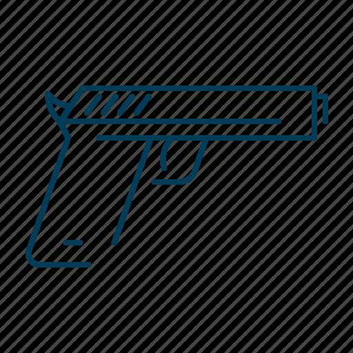 crime, crimnal, gun, pistol, violence icon