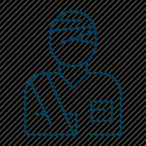bandage, broken, health, hospital, injury icon