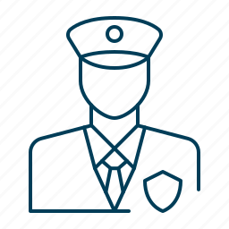 cop, officer, police, policeman, security icon