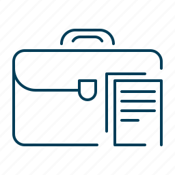 bag, briefcase, business, documents, suitcase icon