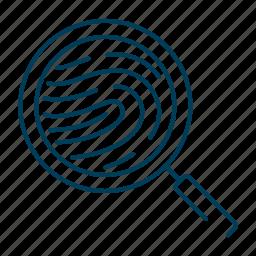 biometric, fingerprint, id, identification, profile icon