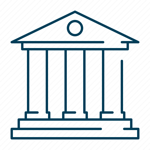 architecture, bank, building, landmark, museum icon