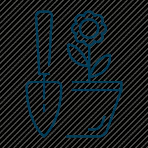 flower, garden, gardening, nature, plant, pot icon