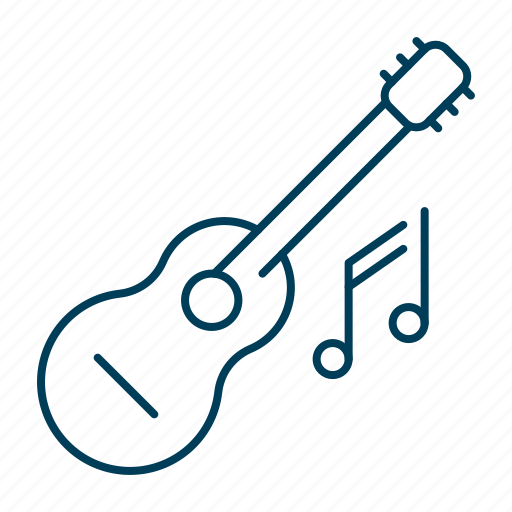 guitar, instrument, musical, playing, song icon