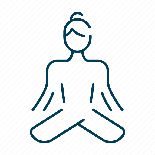 body, exercise, meditation, pose, spa, yoga icon