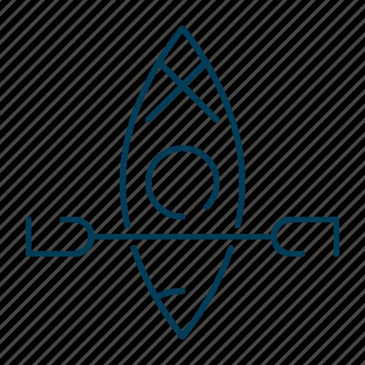 boat, canoe, canoeing, kayaking, rowing, sea, ship icon
