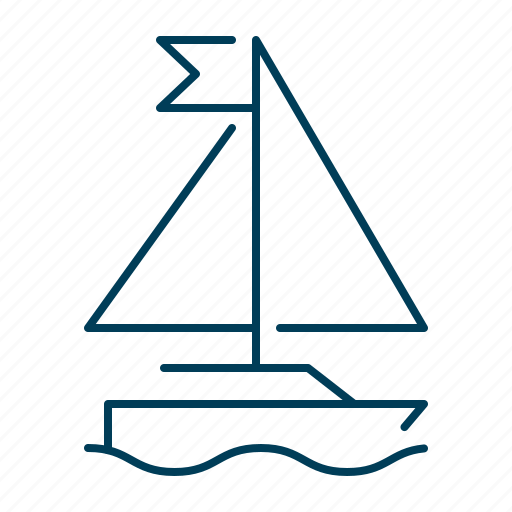boat, sail, sailing, ship, vessel, yacht icon