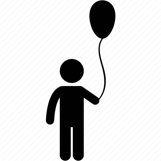 balloon, boy, child, happy, holding, kid, toddler icon