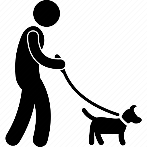 dog, leash, man, outdoor, park, pet, walking icon