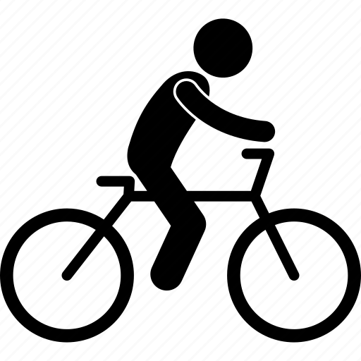 bicycle, cycling, cyclist, man, people, person, riding icon