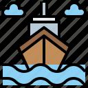 boat, cruiser, sea, ship, transport icon