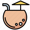 alcohol, alcoholic, cocktail, drink, drinking, food, leisure, party, straw icon