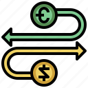 business, coins, commerce, currency, dollar, euro, exchange, finances, money icon