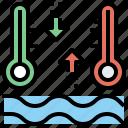 celsius, degrees, fahrenheit, mercury, temperature, thermometer, tools, utensils icon
