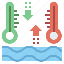 celsius, degrees, fahrenheit, mercury, temperature, thermometer, tools, utensils icon