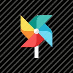 paper, windmill icon
