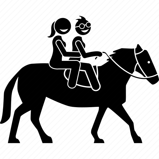 Activity, couple, horse, leisure, lesbian, riding icon - Download on Iconfinder