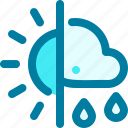 climatology, cloud, meteorology, rain, sun icon