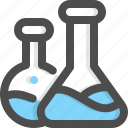 chemical, chemistry, flask, lab, laboratory, science, tool icon