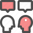 communication, consultation, conversationnegotiation, discussion, talk icon
