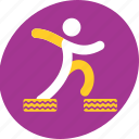 course, courses, obstacle, race, run, running, tire icon
