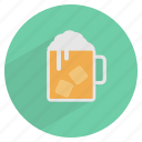 alcohol, beer, beverage, cold, drink, glass, ice cube icon
