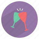 alcohol, celebrate, cheers, drink, glass, party, wine icon