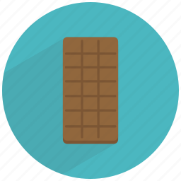 bar, candy, chocolate, dark, dessert, sugar, sweet icon
