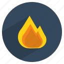 cook, fire, flame, heat, kitchen, light icon