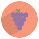 food, fresh, fruit, grapes, healthy, wine icon