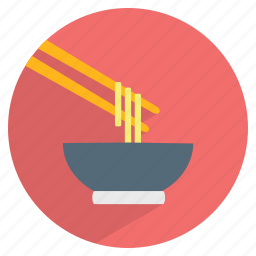 bowl, chinese cuisine, chopsticks, fast food, meal, noodles, spaghetti icon