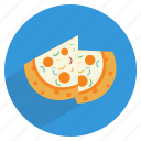 cheese, delicacy, delicious, food, italian, junk, pizza icon