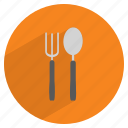 cutlery, dinner, fork, kitchen, restaurant, spoon, tableware icon