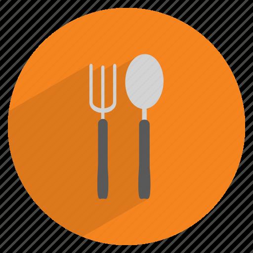 cutlery, dinner, fork, kitchen, restaurant, spoon, tableware icon