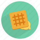cookie, dessert, sweet, wafers, waffles icon