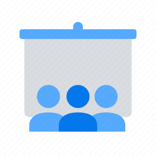 blackboard, presentation, training icon