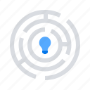 challenge, maze, solution icon
