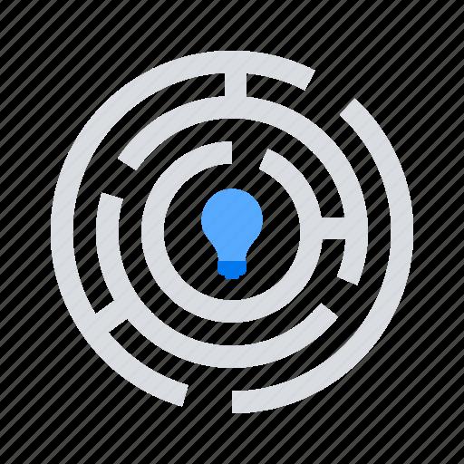 challenge, maze, solution icon