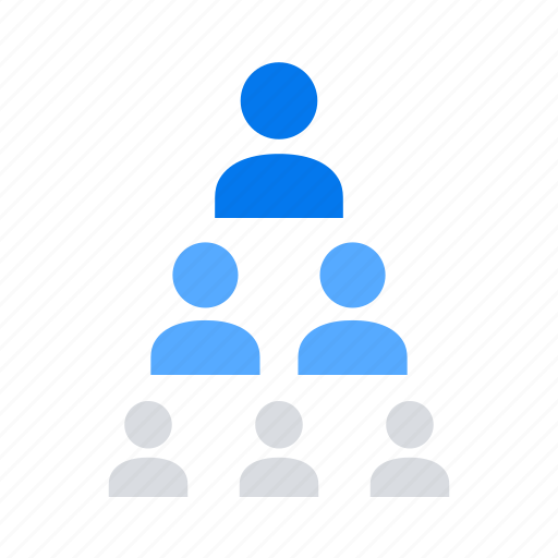 hierarchy, leader, teamwork icon