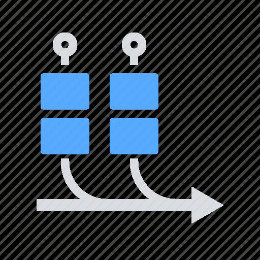 agile, boards, kanban, project, trello icon